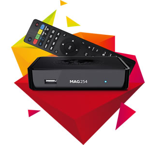 MAG254 W1 IPTV SET-TOP BOX (BUILT IN WIFI)